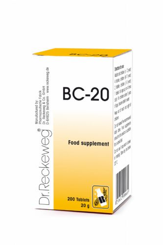 Schuessler BC20 combination cell salt - tissue salt